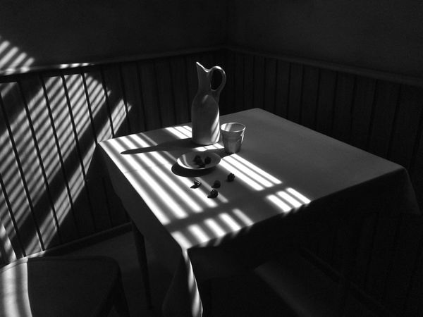 Kunstmuseum Wolfsburg Shadow Indoors  Table No People Day