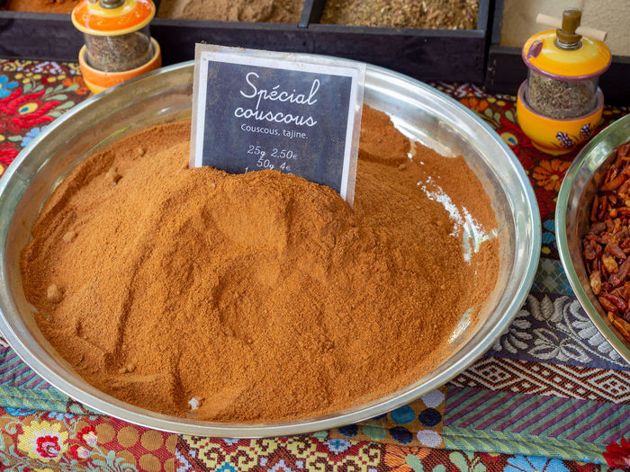 Food And Drink Food Arles France Provence Market Market Stall Farmer Market Farmers Market Spice Couscous Tajine Still Life Ingredient Cooking Street Market Stall