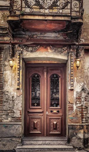 Door in the street of Tbilisi Tbilisi Travel Wood Architecture Building Exterior Built Structure Canon Closed Day Door Doorway Entrance Entry No People Old Old Buildings Open Door Ornate Outdoors Street Streetphotography Travel Destinations Wood - Material Wooden