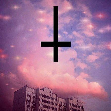 Invertedcross Pastel Pastelgrunge Pastelgoth Pastelcity Pastelscene Cloudscape Goth Grunge Scene