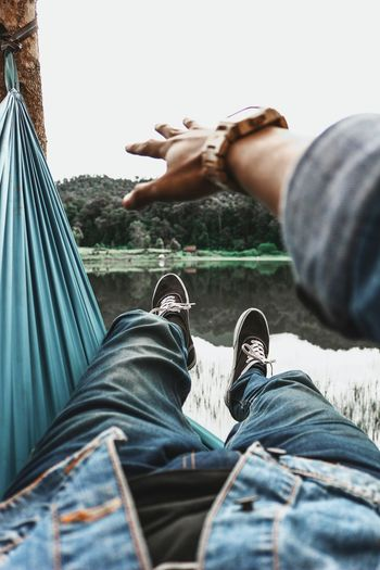 Low section of on hammock
