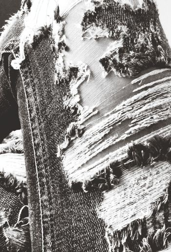 Black & White Denim Jeans