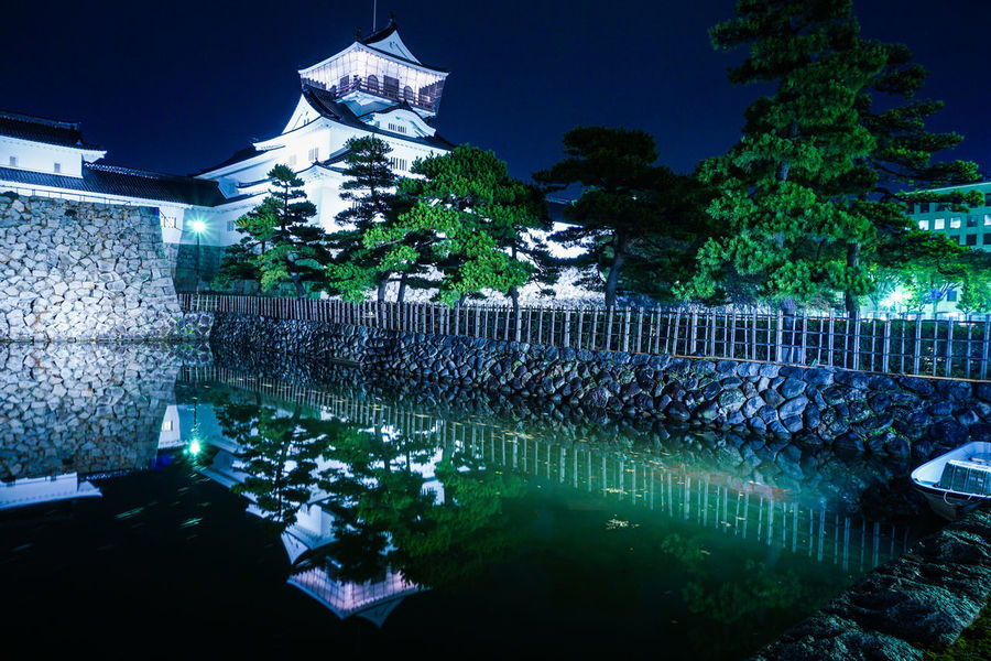 Castle Japan Japan Photography Japanese Castle Japanese Culture Japanese Style Night Lights Night Photography Night Scene Reflection Rock Wall Architecture Built Structure Night Night Scenery  No People Outdoors River River Side Toyartistry Wall - Building Feature Water Water Reflection White Wall