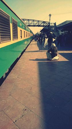 Travel Sanpchat Train Train Station Trainstation Travel Photography Tour Only Men Shadow Day Outdoors People Adult Adults Only Sky