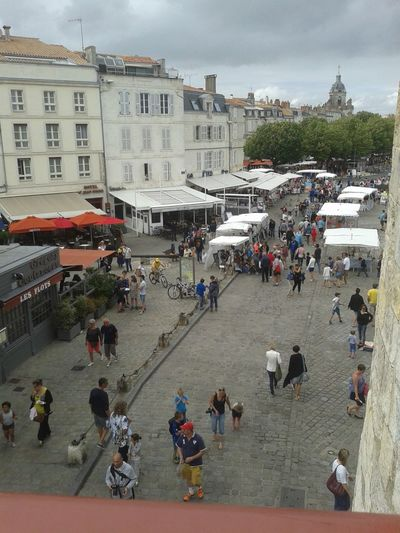 View From Above Port People Peoplephotography Shops Outdoor Shop Ambiance La Rochelle, France