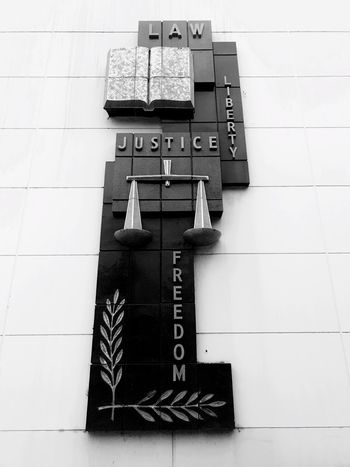 EyeEm Selects Text Western Script Communication Capital Letter Number No People Information Alphabet Guidance Indoors  Day Technology Courthouse Justice - Concept Justice Sculpture Bronze Glendale Close-up EyeEmNewHere Brutalism Justinsullivan Brutal_architecture Modern