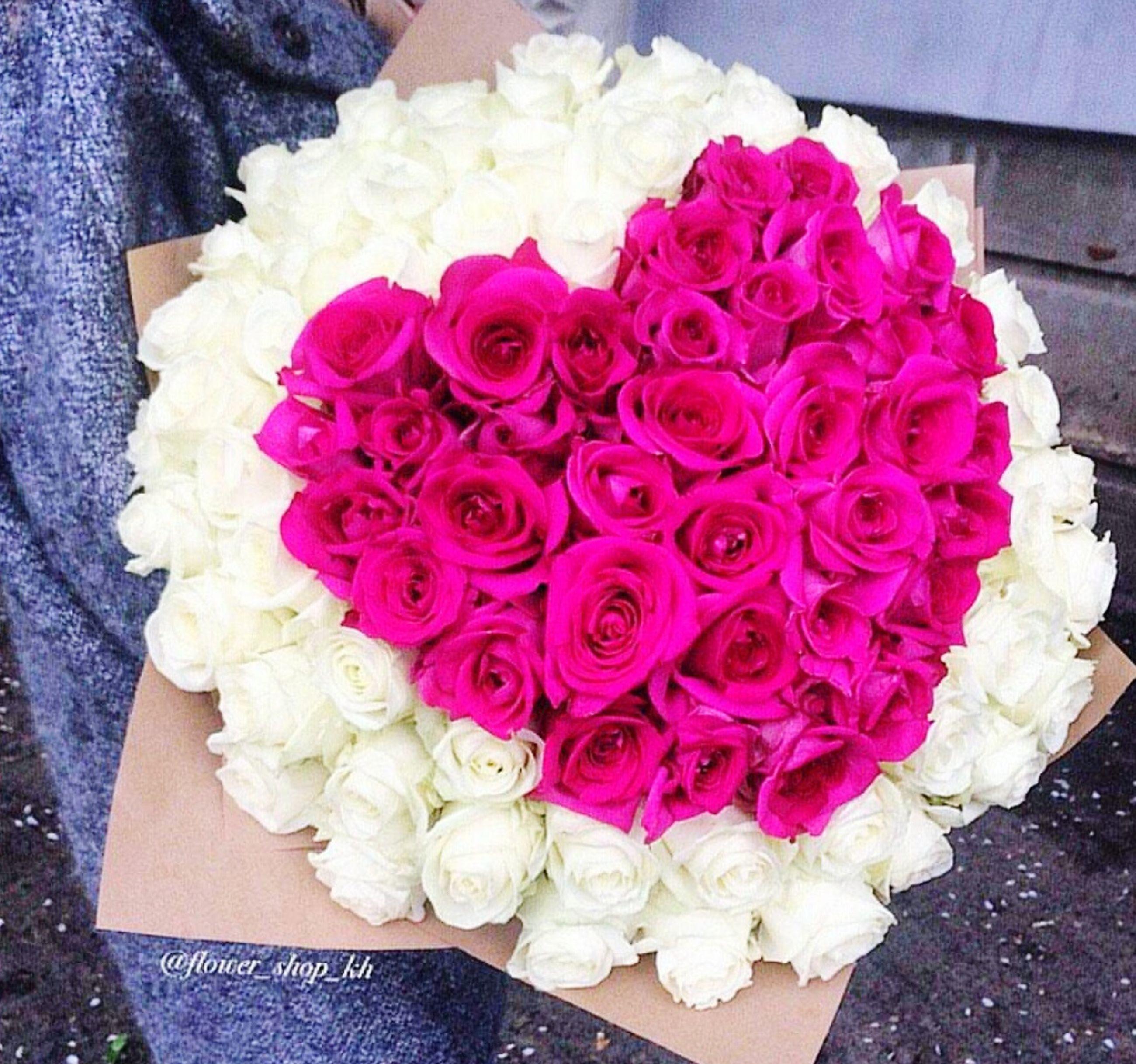 flower, freshness, indoors, petal, flower head, fragility, bouquet, rose - flower, high angle view, multi colored, variation, bunch of flowers, vase, flower arrangement, beauty in nature, pink color, decoration, table, arrangement, close-up