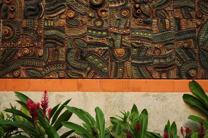 Full frame shot of patterned wall of building