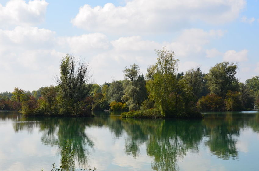 Nikon Beauty In Nature Day Lake Nature No People Outdoors Reflection Scenics Sky Tranquility Tree Water Weitmannsee