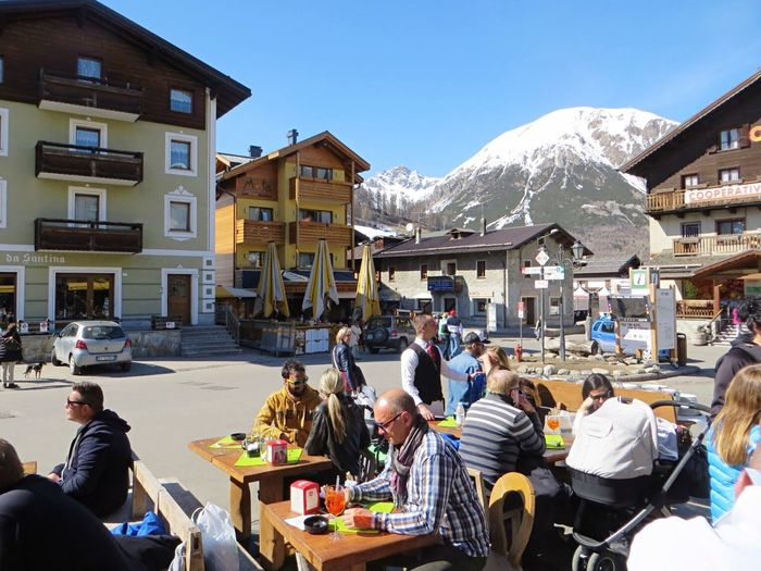 The Tourist Showcase: February Mountains Architecture Having Fun Having A Beer Having Fun :) Italy Livigno Ski Holiday Winter Wintertime Enjoying The Sun Enjoying The View Enjoying Life Resturant Eating Drinking Drinking Beer Happy People Tourism Tourists Vacation Vacation Time
