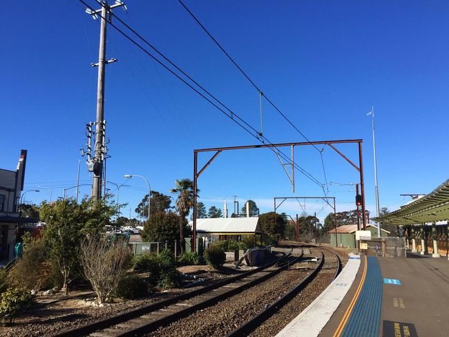 Taking Photos Travel Traveling Sydney Katoomba Train Train Station Blue Sky Waiting For A Train IPhoneography