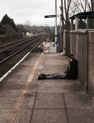 At a Train Station Waiting First Eyeem Photo