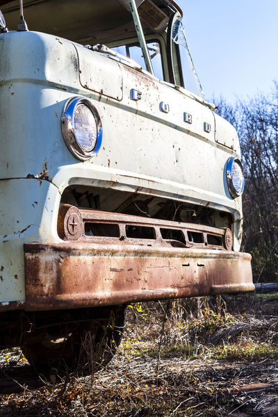 Abandoned Abandoned Vehicle Eye Level Ford Truck Late Afternoon Mode Of Transport Nature Takes Over No People Old Car Old Ford Truck Old Truck Old Truck Photography Old-fashioned Overgrown Rusted Truck Rusty Truck Transportation Vehicle Vintage