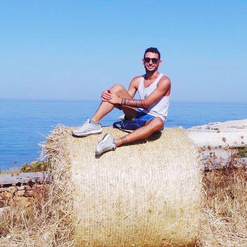 Sardinia Mare Sun Sea Water Beach Glasses Land Sunglasses One Person Sky Horizon Over Water Real People