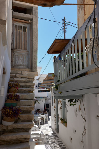 Naxos Town Architecture Balcony Building Building Exterior Built Structure City Day Door Entrance Hanging House Nature No People Outdoors Place Of Worship Railing Residential District Staircase Steps And Staircases White Color