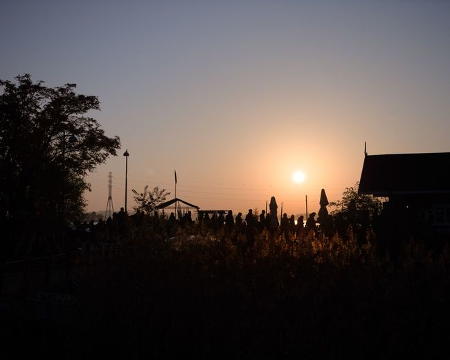 Waiting in line at the local favourite, Cafe Regatta Crowd Warm Cozy Idyllic Popular Queue Up Queuing Waiting In Line Large Group Of People Clear Sky Real People Beauty In Nature Copy Space Group Of People Nature Sunset Orange Color Queue Plant Golden Hour Silhouette Tree Cafe Sky Gh5