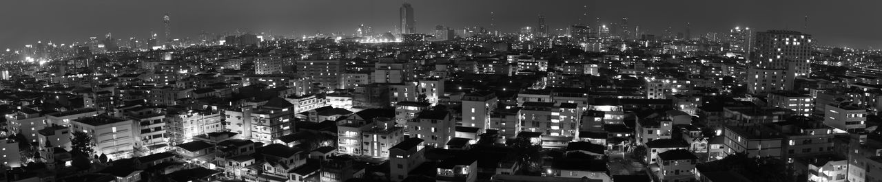 An ultra wide panorama of Bangok from Din Daeng. Architecture Architecture ASIA Background Bangkok Black And White Building City Cityscape Community Din Daeng Holiday Landscape Modern Nathong Night Ratchadapisek Residential District Sky Soi Thailand Tourism Travel Travel Destinations Urban