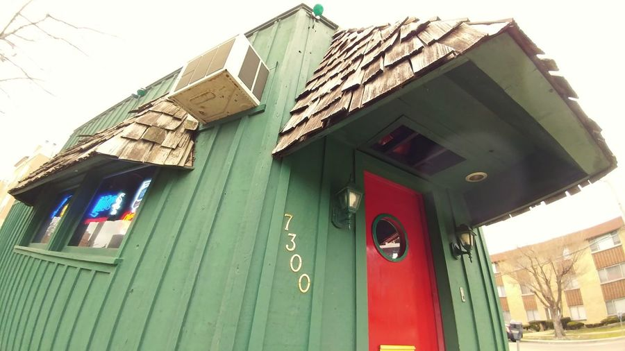 Building Exterior Outdoors Green Color Bar