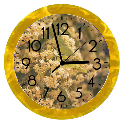 Digital composite image of clock on wall