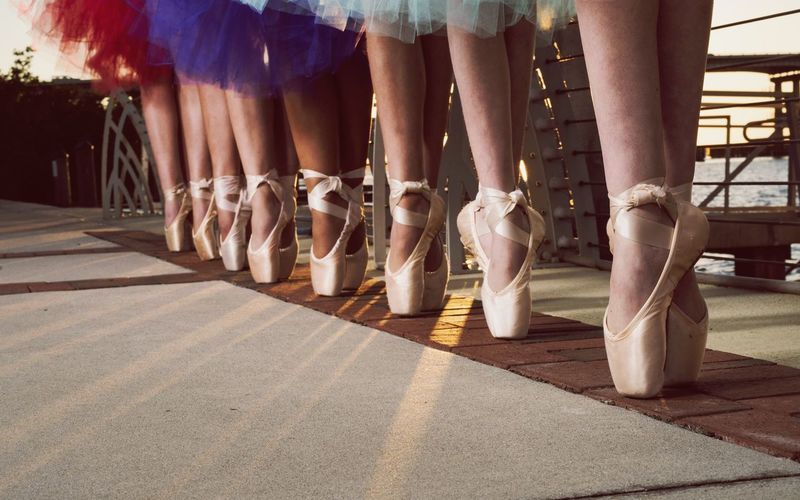 Colored pointe Ballerinas Pointe  Pointe Shoes Dancers Ballet Human Leg Human Body Part Low Section People Day Large Group Of People Outdoors
