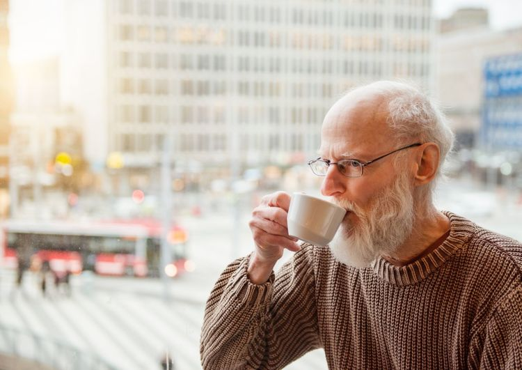 Drink Coffee Coffee - Drink Mug Coffee Cup Cup City Food And Drink Drinking One Person Senior Adult Adult Refreshment Gray Hair Eyeglasses  City Life Architecture Glasses Hot Drink Coffee Break