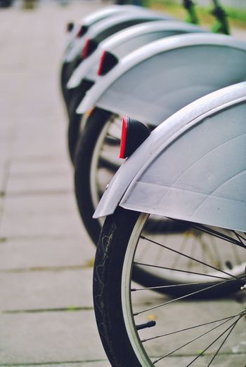 Bicycle Car Chrome City Close-up Day Focus On Foreground Land Vehicle Mode Of Transportation Motor Vehicle No People Outdoors Red Spoke Stationary Street Tire Transportation Travel Vehicle Part Wheel