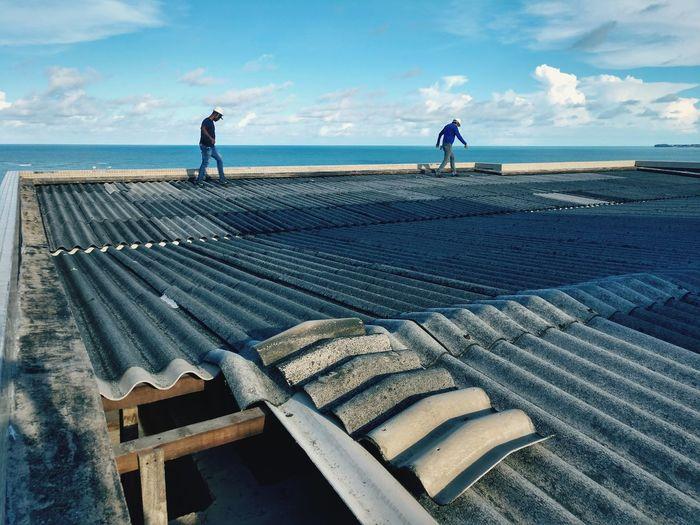 #work Working Sea Occupation Water Men Full Length Fisherman Manual Worker Sky Horizon Over Water