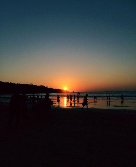 Sunset at Jimbaran Bay.. Sunset IPhoneography EyeEm Nature Lover EyeEm Best Shots - Sunsets + Sunrise Sunset_collection Sunset Silhouettes Beach Eye4photography  Traveling Landscape