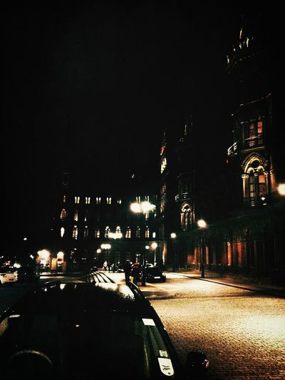 St. Pancras at night Nightphotography London Londononly IPhoneography