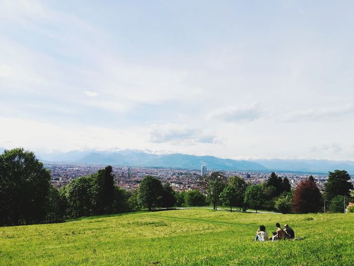Park view in turin Grass Panorama View Picnic Tree Togetherness Sky Grass
