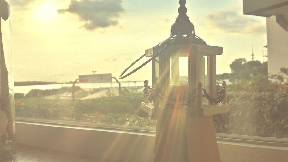 Lighthouse Lighthouse_lovers Sunbeam Sky Sun Window Indoor Scenics Enjoying Summer Pastel Sunshine Sea Sealife