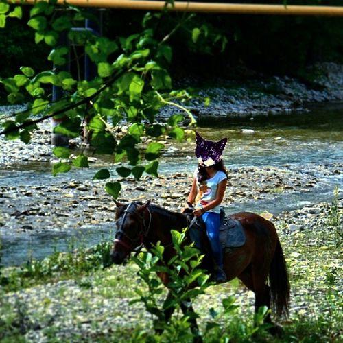 где бы вы видели, что Лена на лошадке?? Лицо не айс :( лето2013 Анапа Сукко лошадь кудряшка😂