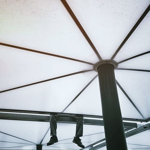 Architecture Feet Glass - Material Low Angle View Pattern PHZH Protection Structure Umbrella
