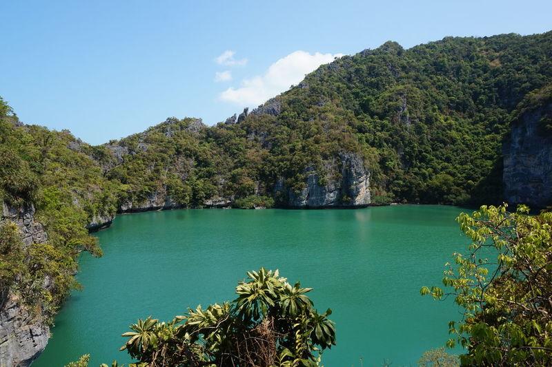 "Lagoon or ""Talae-Nai"" Angthong National Marine Park Blue Lagoon Blue Sea Ko Samui Marine Park Paradise On Earth Lagoon Ocen  Samui Sea Suratthani"