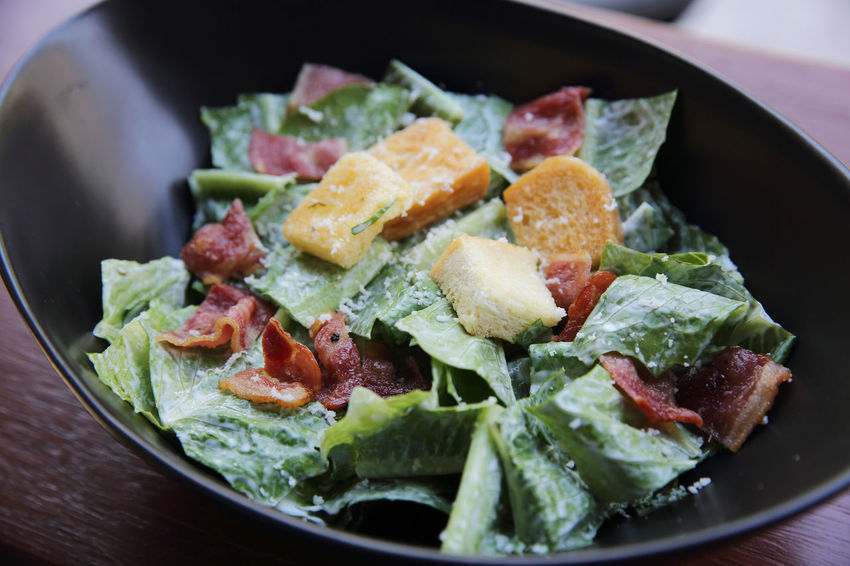 Ceasar Salad Salad Bacon Close-up Day Food Food And Drink Freshness Healthy Eating Indoors  No People Ready-to-eat