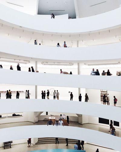 New York Guggenheim Museum Art Gallery NYC Architecture People EyeEm Best Shots Minimalism