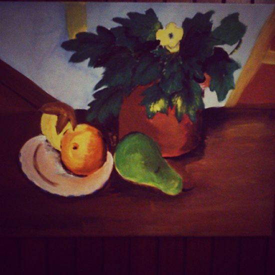Art Artist Paint Picture Fruit Plant Natural Beauty Like Lienzo Bodegón Color Loveart Photo Photography Instalike Photoart Me MyArt Instagood Good Follow Followme
