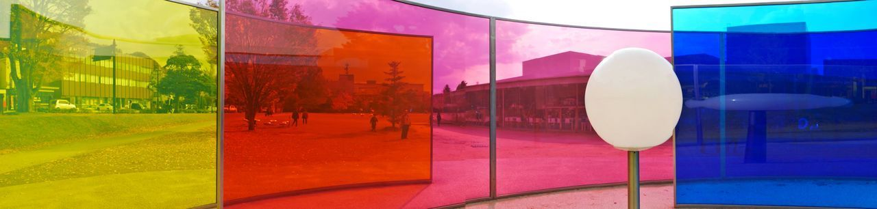 Day Outdoors Pink Color Reflection カラフル 美術館 金沢 金沢21世紀美術館 金沢市