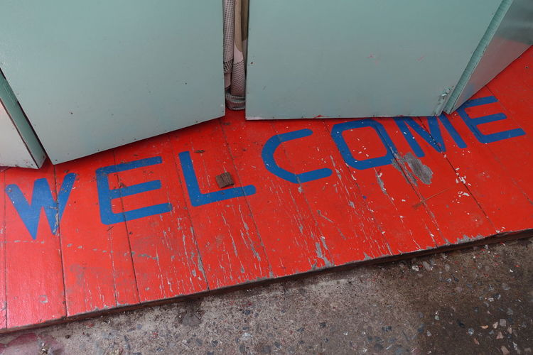 Welcome Floor Typography Market Ko Chang Thailand Design Spotted In Thailand