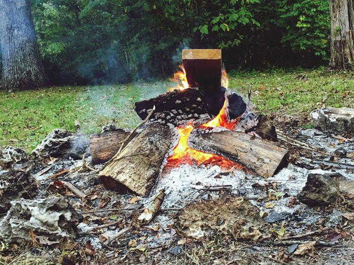 Fall is here. Enjoying Life Relaxing Fall Bonfire
