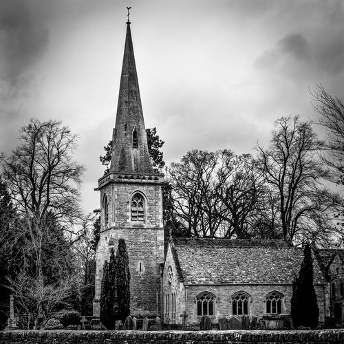 Beautiful church in the Gloucestershire hamlet of Lower Slaughter. To my shame I can't remember what it was called, but it's beautiful none the the less Architecture Black And White Photography Church Dodge And Burn Fine Art Photography Post Production Masking, Filters, & Brush Strokes Religion Steeple