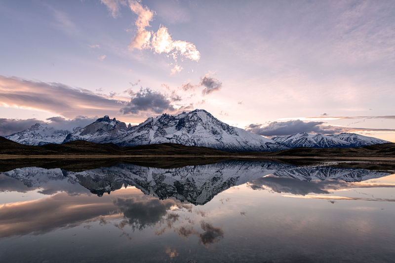 Reflected mountain