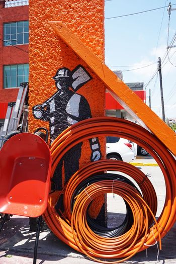 2016 Architecture Cancun City Construction Construction Tools Mexico Orange Color Outdoors Red Street Work カンクン メキシコ 工事