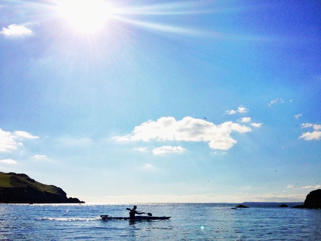 Kayaking Ocean Beachphotography Silhouette Summer Devon Hope Cove