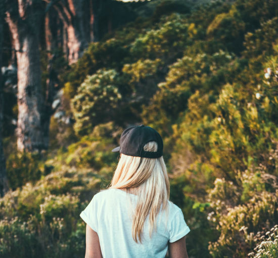 Little adventures create happiness Blonde Girl Blonde Hair Cap Capture The Moment Casual Clothing Focus On Foreground Forest Hat Leisure Activity Lifestyles Long Hair Looking Forward Nature Outdoors Portrait Standing Tree The Following