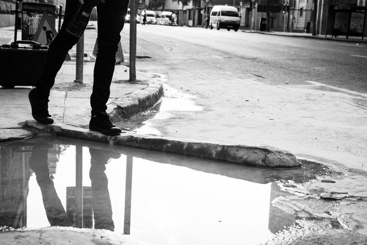 Walking on water Streetphotography Urban City Reflection Pretoria South Africa