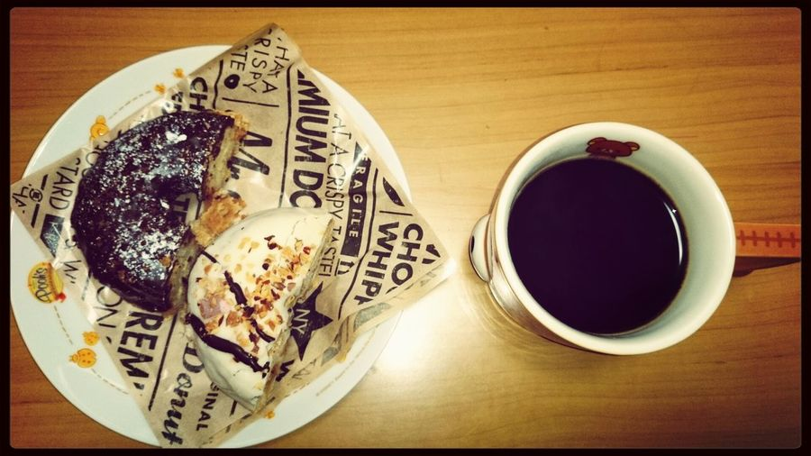 Foods Coffee Time Enjoy Eating Yummy