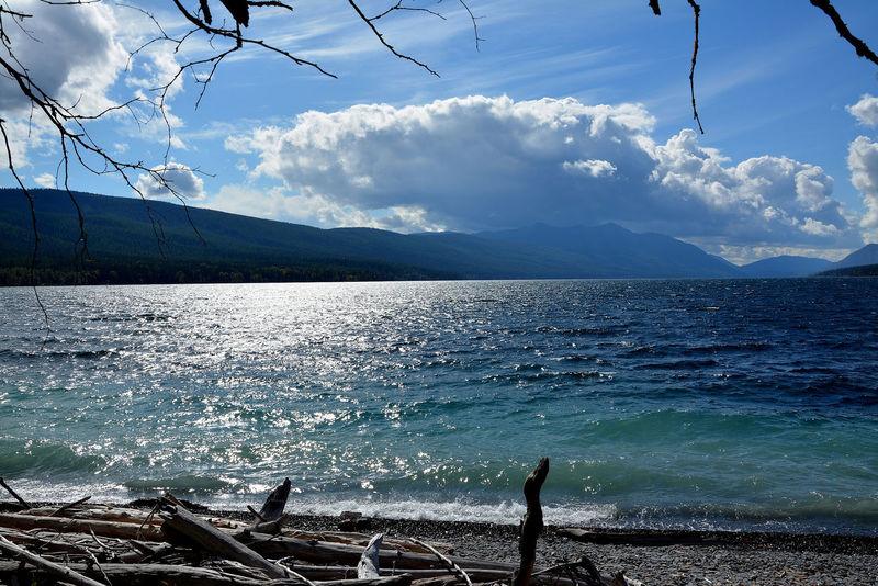 Glacier National Park Lake McDonald Fall Beauty Water sky Sky Nature Natural Nature Photography Nationalpark