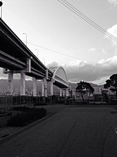 Black And White Monochrome Bridge Self Portrait