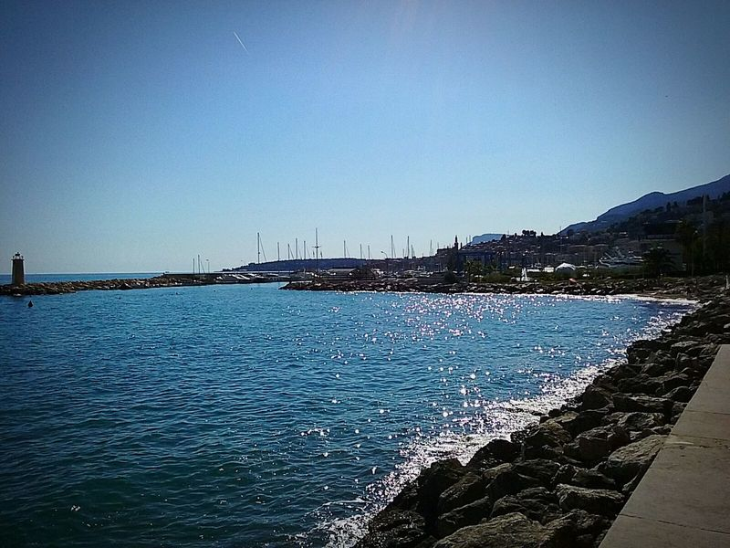 Samsunggalaxycore Photoshoot Sea And Sky Mobile Photography Sea View Summer Time  Hello World Port Menton
